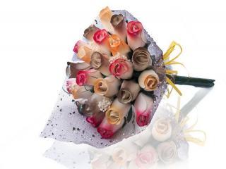 """Blumenstrauß aus Holzrosen """"MELISA"""""""