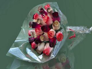 """Blumenstrauß aus Holzrosen """"ELI"""""""