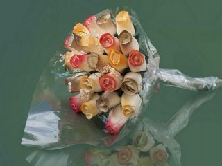 """Blumenstrauß aus Holzrosen """"MARY"""""""