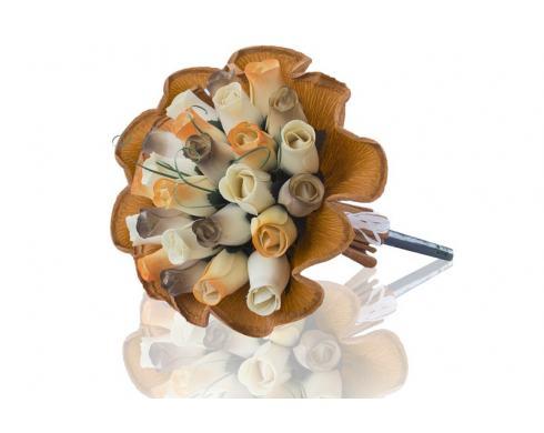 """Blumenstrauß aus Holzrosen """"SYDNEY"""""""